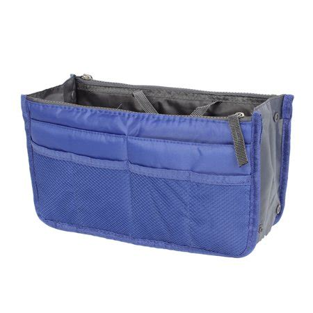 purse rack walmart blue cosmetic makeup storage handbag tote insert