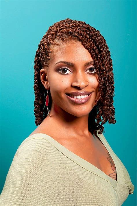 Black Twist Hairstyles by Two Strand Twists With A Stunning Hair Color Black