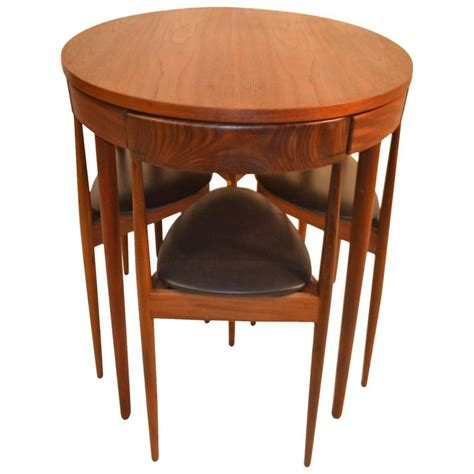 teak dining table and chairs by hans for frem
