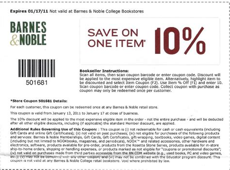 Barnes Ans Noble Coupon by Free Printable Coupons And Codes
