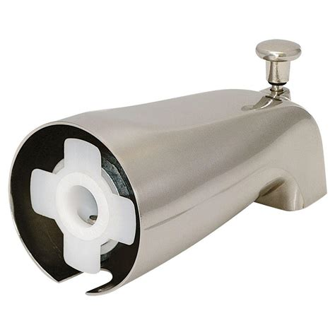 moen kitchen faucet parts home depot ez flo slide on diverter spout brushed nickel 15088 the