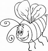 Bee Bumble Coloring Pages Printable Cartoon Draw Outline Template Step Clipart Drawing Drawings Cute Bugs Library Animals Az sketch template