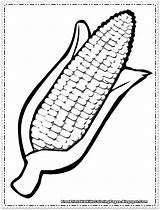 Corn Coloring Pages Printable Cartoon Thanksgiving Cob Template Drawing Clipart Colouring Vegetable Preschool Cliparts Crafts Printables Sheets Craft Indian Sacks sketch template