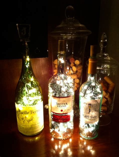 how to put lights in a wine bottle janina a la maison diy bottle l