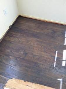 Problem staining oak floor can39t get it dark enough for Removing stains from laminate floors