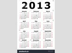Simple 2013 Calendar Eps 10 Stock Vector 102489905