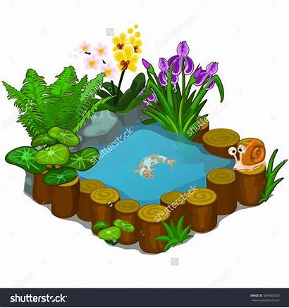 Pond Clipart Ornamental Round Japanese Vector Borders