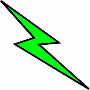 Green lightning bolt clipart