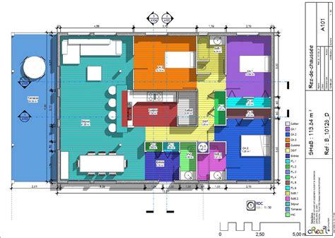plan maison bois plain pied 4 chambres plan de grande maison ossature bois de plain pied home