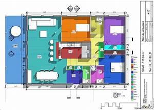 Plan Grande Maison : plan de grande maison ossature bois de plain pied home pinterest maison ossature bois ~ Melissatoandfro.com Idées de Décoration