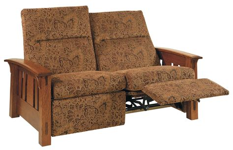 Mission Loveseat Recliner by Mccoy Mission Wall Hugger Reclining Loveseat From
