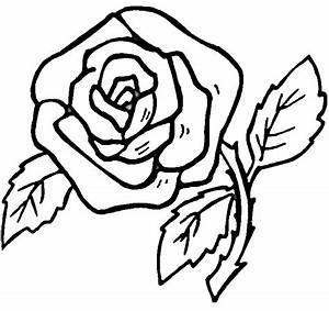 Simple Rose Drawing | Free coloring pages, free printable ...