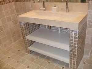 construire un meuble de salle de bain en siporex With construire meuble de salle de bain