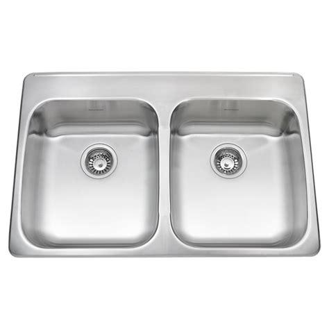 eljer stainless steel kitchen sinks ada double bowl 33 inch 18 gauge kitchen sink american