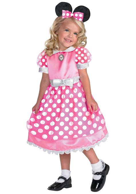 Pink Minnie Mouse Costume  Kids Mini Mouse Costumes