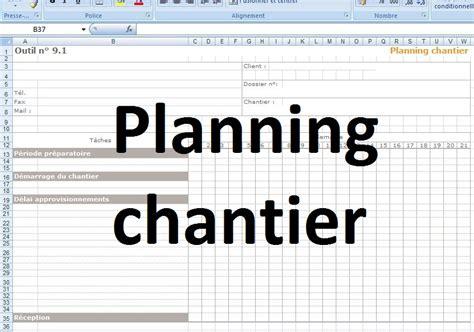 modèle de planning de travail mod 232 le planning chantier excel cours g 233 nie civil