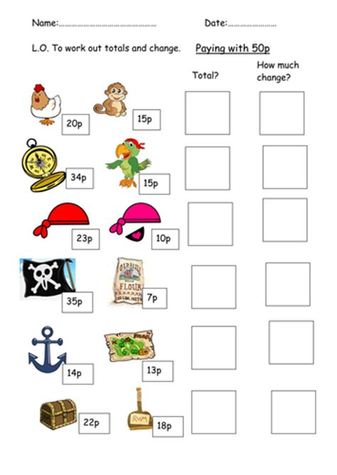 pirate money and change lesson by clara5 teaching resources tes