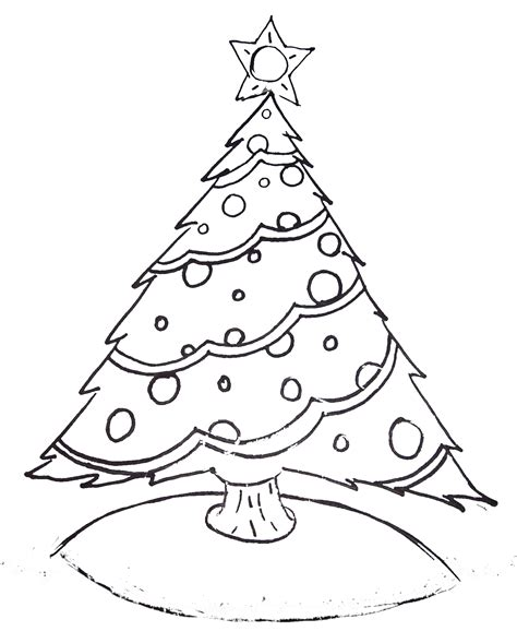 rockin   christmas tree coloring pages collection
