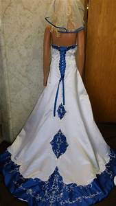 wedding dresses with royal blue accents With wedding dresses with royal blue accents