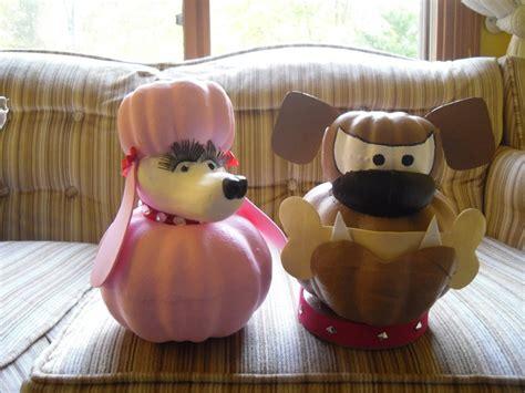 poodle  bulldog pumpkins  crafts  decorating