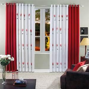 Kurze Vorhänge Für Wohnzimmer : 35 rote gardinen f r k nigliche eleganz in ihrem wohnzimmer ~ Bigdaddyawards.com Haus und Dekorationen