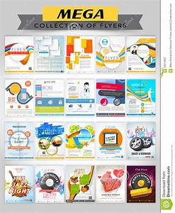 Mega Collection Of Different Stylish Flyers. Stock Photo ...