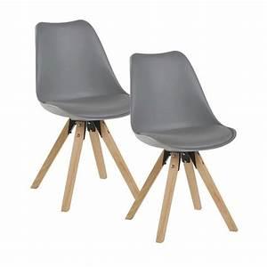Chaise Scandinave Grise : chaise scandinave grise tony lot de 2 pier import ~ Melissatoandfro.com Idées de Décoration