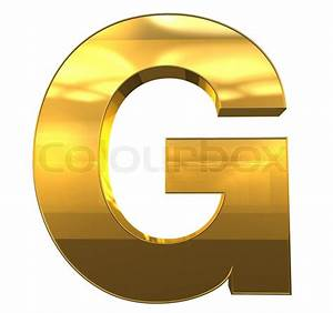 letter g from gold with gold frame alphabet set isolated With gold letter g