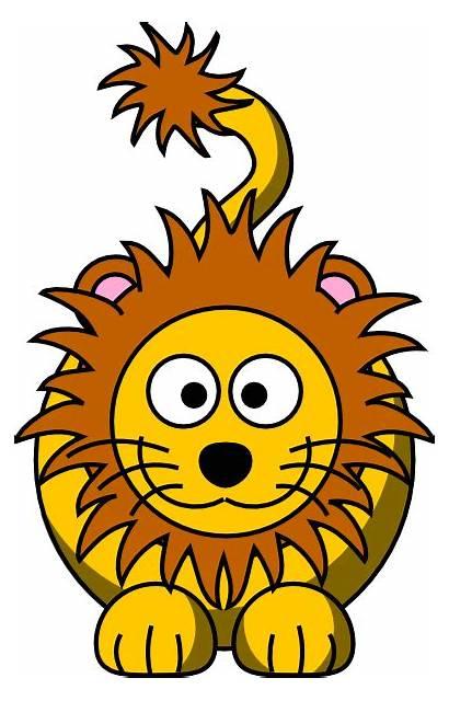 Lion Cartoon Golden Clker Clip Clipart Vector