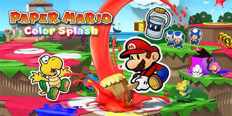 paper mario color splash wii  games nintendo