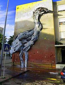 Trash and found objects transformed into birds by bordalo for Trash and found objects transformed into birds by bordalo ii