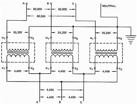 wye and delta connections of single phase transformers