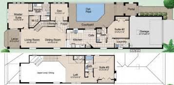 floor plans with courtyard mediterranean ranch house plans with courtyard house