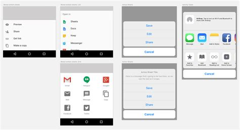 android vs ios compare 20 ui components patterns part 1