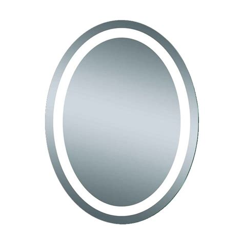 afina illume 24 quot x 32 quot oval mirror led backlit il 2432 o