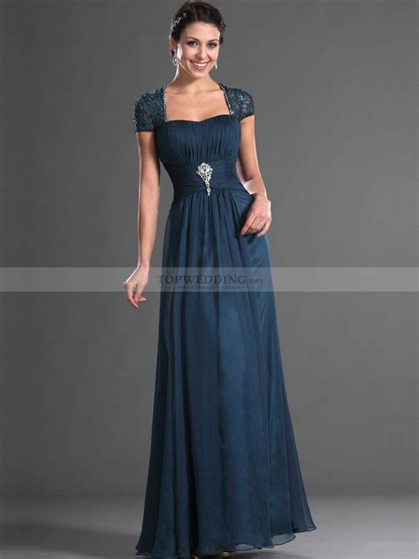 Cap Sleeve Bridesmaid Dresses Floor Length by Beaded Lace Cap Sleeve Floor Length Draped Chiffon