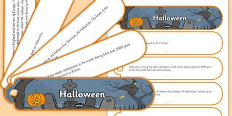 halloween facts fan book   children
