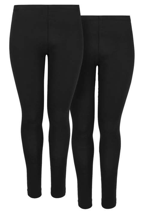 pack black cotton essential leggings  size