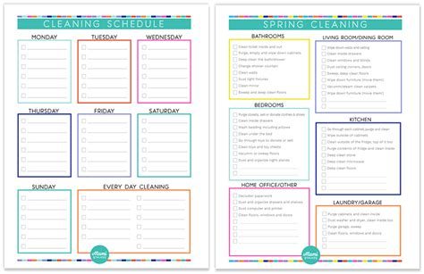 Cleaning Schedules Templates by Time For Cleaning Free Cleaning Schedule