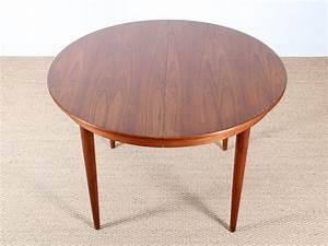 Table Ronde En Teck : table ronde scandinave rallonges en teck 4 10 pers ~ Teatrodelosmanantiales.com Idées de Décoration