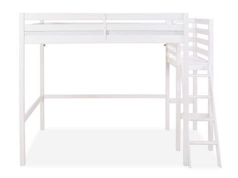 lit mezzanine bureau blanc lit mezzanine 140x200 cm melody coloris blanc vente de