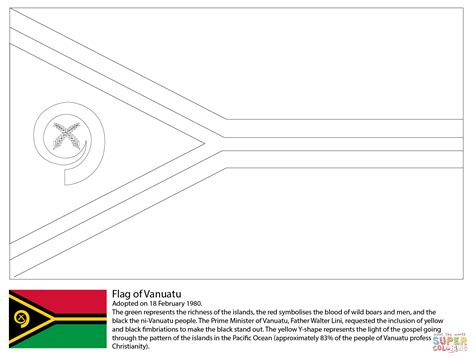 cook island flag template flag of vanuatu coloring page free printable coloring pages