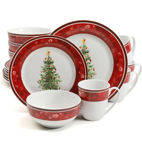 dinnerware christmas sets gibson holiday piece noel nostalgia dishes theme dinner plates kitchen dining unique tableware service amazon gibsonusaoutlet