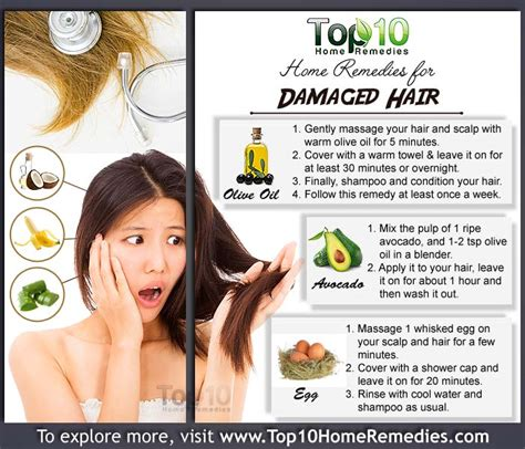 home remedies  damaged hair pinlaviecom