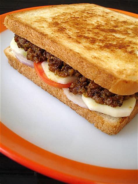 kheema sandwich indian food recipes food  cooking blog