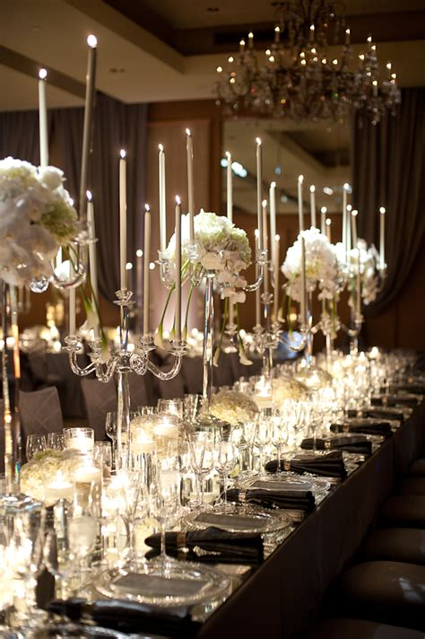 candles as wedding decor united with