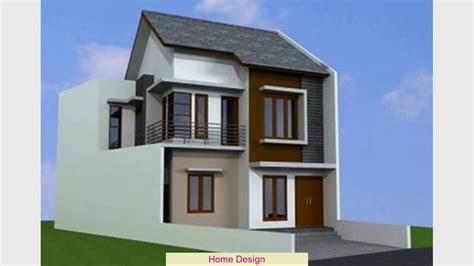 desain rumah lantai  sederhana youtube