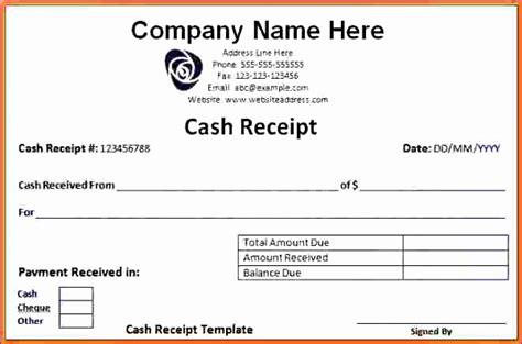 receipt templates excel exceltemplates exceltemplates