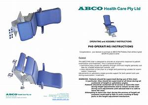 P40 Podiatry Chair Operating Instructions Pdf Download