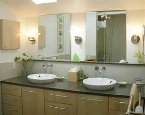 Grand Meuble Salle De Bain : le meuble salle de bain double vasque convient une salle de bain jolie et moderne ~ Teatrodelosmanantiales.com Idées de Décoration
